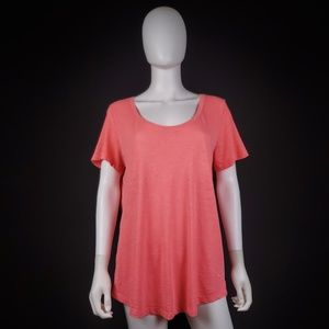 VS PINK L Coral Pink Backless T-Shirt